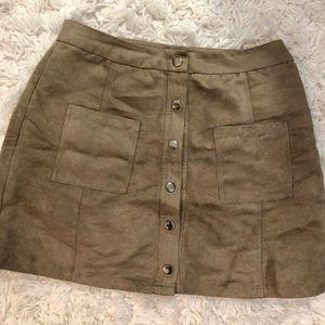 BB Dakota faux suede skirt. Size 2